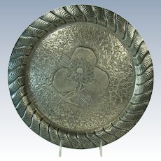 Meriden Silver Plated Hand-Chased Serving Tray - 1880's