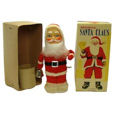 Alps Mechanical Santa Claus Wind-up Toy - Mint in Box
