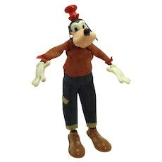 Marx Goofy Bendy Toy - Walt Disney Productions