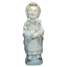 Porcelain Figure of Old Woman in Bonnet - 1890's