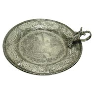 Silver Plated Hand Engraved Derby & Co. Nappy - 1890's