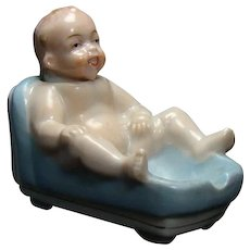 Porcelain Baby in Tub Nodder