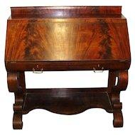Flame Grained Mahogany Slant-Front Desk - 1880's