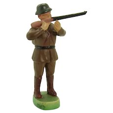 Jointed Celluloid Rifleman Soldier Figurine Toy - Mint