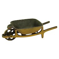 Solid Bronze Wheelbarrow Ash Tray - 1930's