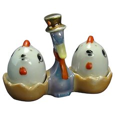 Porcelain Duck and Hatchlings Salt and Pepper - 1920's