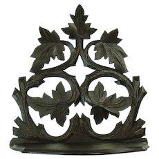 Carved Black Walnut Folding Shelving Unit - 1880's