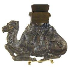 Figural Cast Iron Camel Match Holder - 1920's