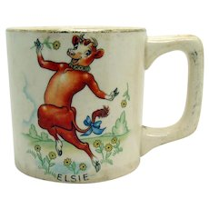 Elsie the Cow Ceramic Mug - 1930's