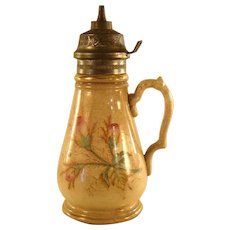 Ceramic Syrup Pitcher - Knowles, Taylor & Knowles - 1880's