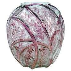 Large Consolidated Art Glass Vase