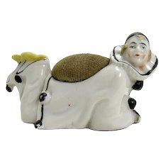 German Porcelain Art Deco Pin Cushion - Early 1900's
