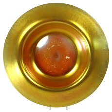 Large Steuben Gold Aurene on Calcite Art Glass Bowl