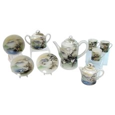 Hand-painted Japanese Porcelain Tea Set - 1920's