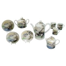 Hand-painted Japanese Porcelain Tea Set - 1920's