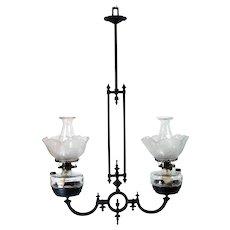 Fancy Iron Hanging Light Fixture - 1880's Victorian