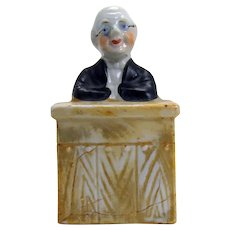 Rare Porcelain Professor Still Bank - 1910