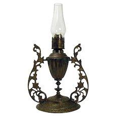 Ornate Brass Gimble Lamp - 1880's