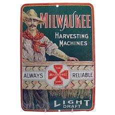 Milwaukee Harvesting Machines Advertising Match-strike - Rare