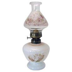 Miniature Victorian Kerosene Lamp - 100% Original c. 1890's