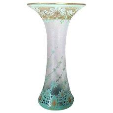 Dorflinger Honesdale Cameo Cut Glass Vase c. 1910