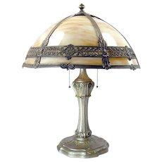 Carmel Panel Filigree Electric Table Lamp - All Original - c. 1920's