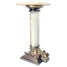 Bronze and Gilt Marble Pedestal c. 1880's