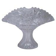Cut Glass Fan Vase - ABC Period