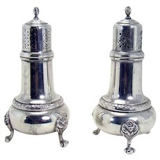 Sterling Salt and Pepper Shakers - Frank M. Whiting & Co. - 1920's