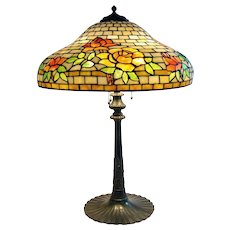 Wilkinson Leaded Floral Table Lamp - 1910