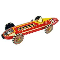 Marx Tin Race Car Wind-up Toy - Near Mint