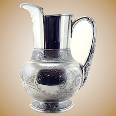 Silver Plated Pairpoint Water Pitcher - Excellent Condition
