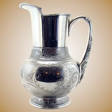 Wallace Bros Art Deco Water Pitcher Quot Mode Quot Pattern Circa
