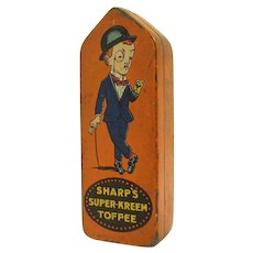 Sharps Superkreem Toffee Early Advertising Tin
