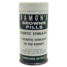 Ramon's Brownie Pills Early Advertising Tin Container