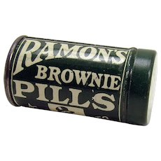 Ramon's Brownie Pills Early Advertising Container - Mint Condition