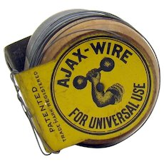 Ajax Wire Tin Early Advertising Spool