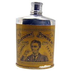 Sozodont Powder Early Advertising Tin