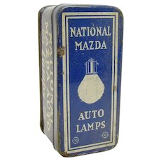 National Mazda Auto Lamp Early Advertising Tin