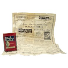 O'Neill's Vegetable Remedy Tablets Early Advertising Tin - Mid-sized Version