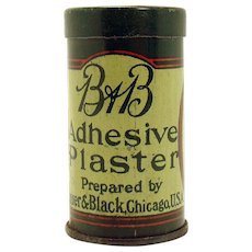 B&B Adhesive Plaster Early Tin Advertising Container