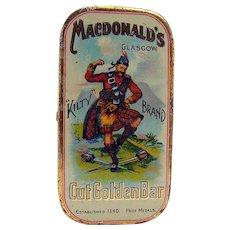 MacDonald's Cut Golden Bar - Early Tin Advertising Container