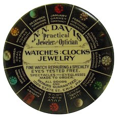 N.N. Davis Jewelry and Optician Early Advertising Pocket Mirror