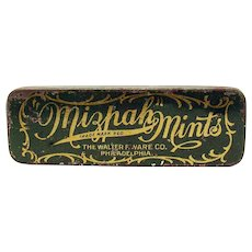Mizpah Mints Early Advertising Tin Container