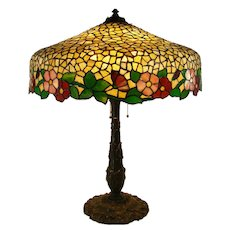 Huge Wilkenson Leaded Glass Table Lamp - 1910