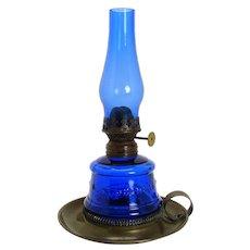 Cobalt Blue Little Duchess Miniature Oil Lamp c. 1890