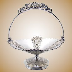 Fancy Silver Plated Victorian Basket - 1890's