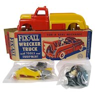 Marx Fix-All Wrecker Truck with Tools and Equipment - Mint in Box