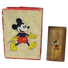 Mickey Mouse Brush in Box - Walt Disney Enterprises - 1930's