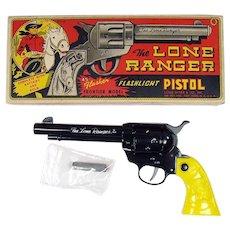Marx Lone Ranger Pistol Flashlight Toy - Mint in Box